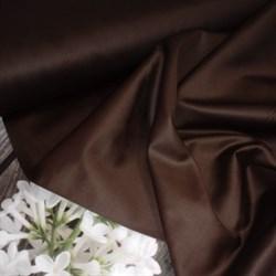 Сатин коричневый мерсеризованный - фото 4616
