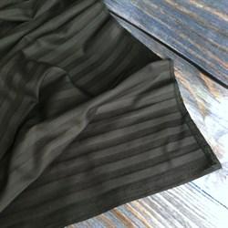 Страйп-сатин мерсеризованный черный (Турция) - фото 5727