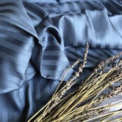 Страйп-сатин мерсеризованный джинсовый (Турция) - фото 5753