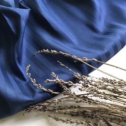 Страйп-сатин мерсеризованный индиго - фото 6378