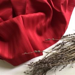 Страйп-сатин мерсеризованный красный - фото 6400
