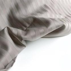 Страйп-сатин мерсеризованный кофейно-серый - фото 6535
