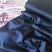 Сатин темно-синий мерсеризованный