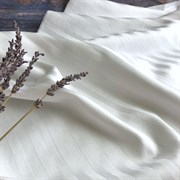 Страйп-сатин мерсеризованный белый (Турция)