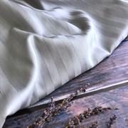 Страйп-сатин мерсеризованный светло-серый (Турция)
