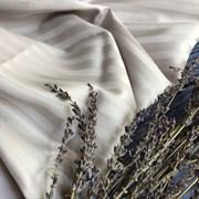Страйп-сатин мерсеризованный серо-бежевая пастель (Турция)