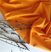 Поплин однотонный оранжевый