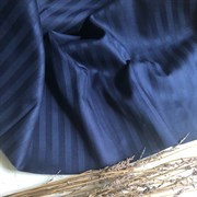 Страйп-сатин мерсеризованный темно-синий (Турция)