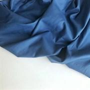 Мако-сатин Джинс синий